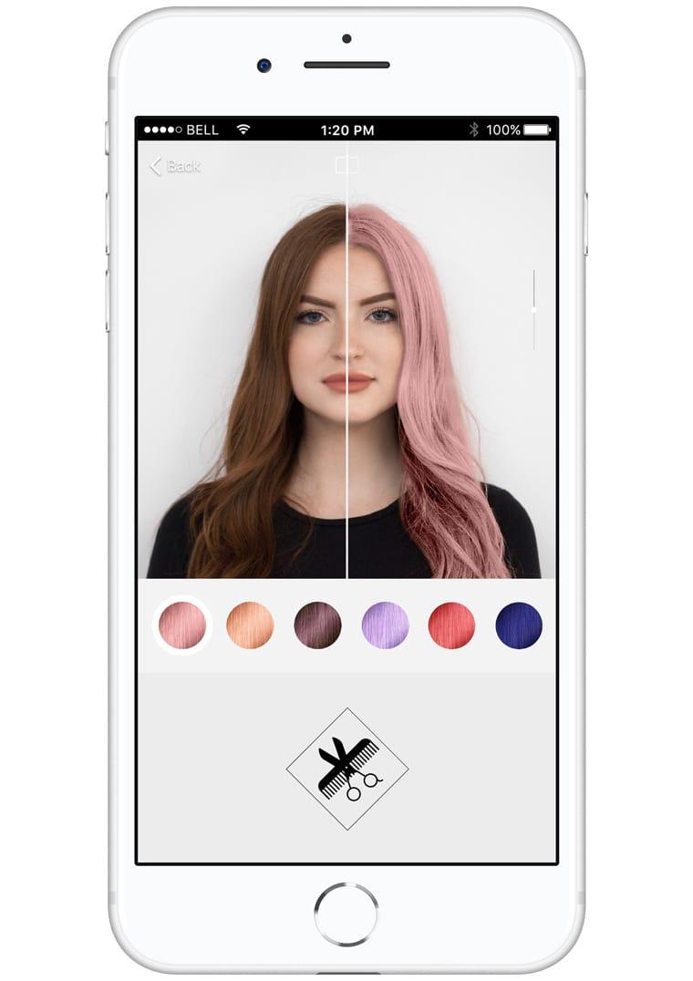 Essayer de nouvelle couleur de cheveux en ligne